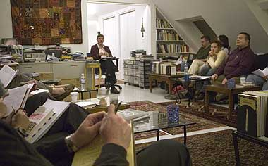 The Writers' Loft in Session